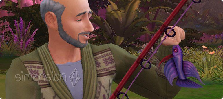 Levelabhängige Optionen der Fähigkeit Angeln in Die Sims 4