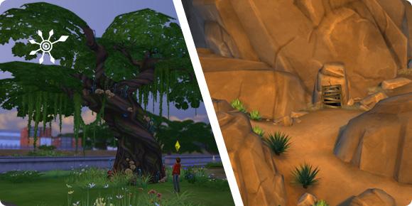 Versteckte Grundstücke in Die Sims 4 finden und betreten