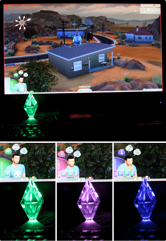Die Sims 4 Interaktive Plumbob-Statue