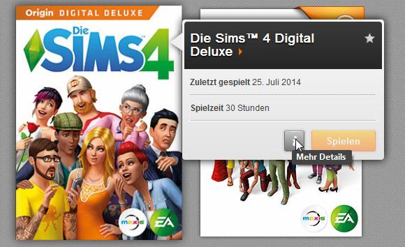 Die Sims 4 Bonusinhalt: Digitalen Soundtrack aufrufen