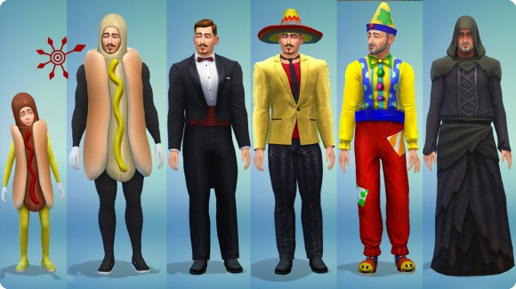 Sims 4 Bonusinhalt Partykostüme für Jungen und Männer