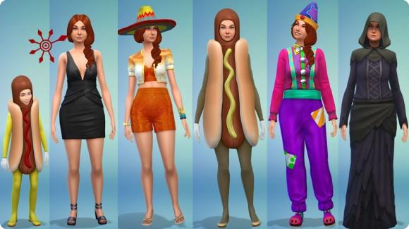 Sims 4 Bonusinhalt Partykostüme für Mädchen und Frauen