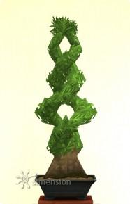 Sims 4 Gartenarbeit Inspirierte Bonsai-Form