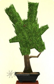 Sims 4 Gartenarbeit Verspielte Bonsai-Form