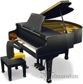 Die Sims 4 Fähigkeit Klavier – spielendes Kind