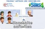 Sims 4 Haushalte aufteilen