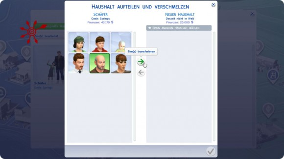 Sims transferieren