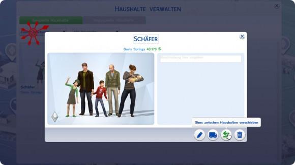 Option Sims zwischen Haushalten verschieben