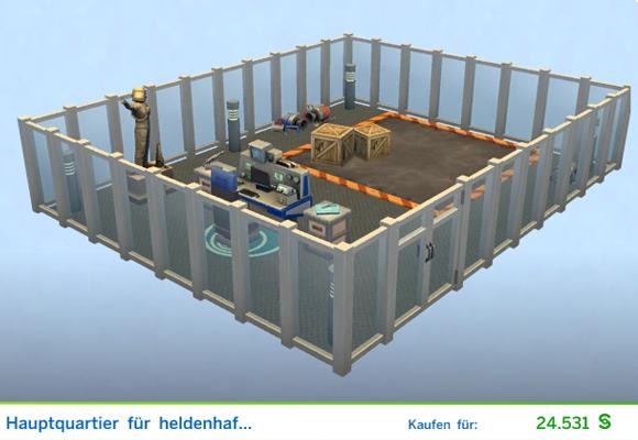 Sims 4 Karrierebelohnung Gestaltetes Zimmer Hauptquartier für heldenhafte Taten für  Weltraum-Ranger