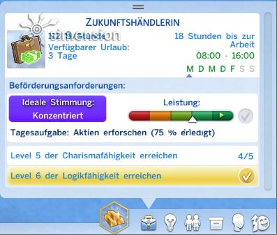 Sims 4 Karriere-Fenster (J)