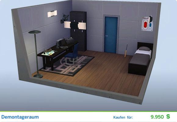 Die Sims 4 Karriere Verbrecher, Berufszweig Orakel: Gestaltetes Zimmer Demontageraum