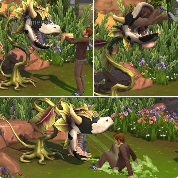 Sims 4 Kuhpflanze – Kuchen essen