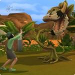 Spielen mit der Kuhpflanze in Die Sims 4