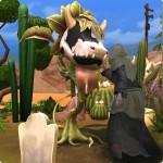 Tod spielt mit Kuhpflanze in Die Sims 4