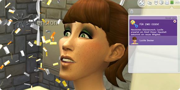 Positiver Schwangerschaftstest in Die Sims 4