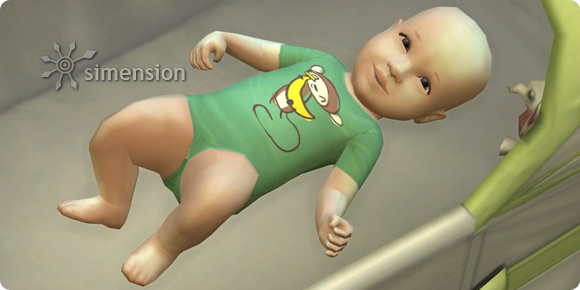 Sims 4 Babys: Neugeborenes in der Wiege