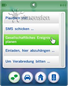 Die Sims 4 Partys und Gesellschafliche Ereignisse am Telefon planen