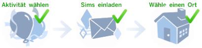 Die Sims 4 Partyplanung in drei Schritten