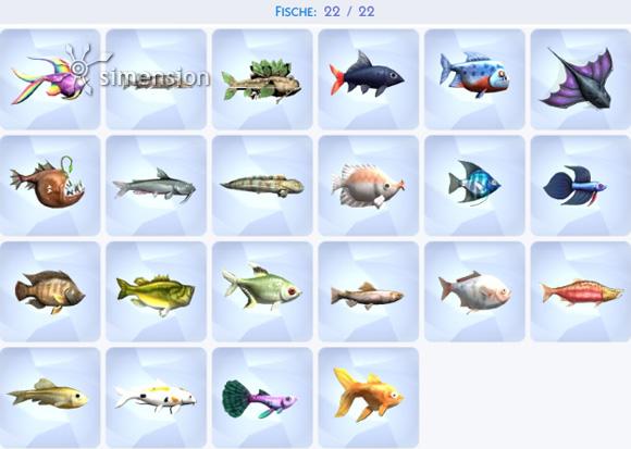 Die Sims 4 Sammlung Fische