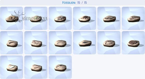 Die Sims 4 Sammlung Fossilien – komplett
