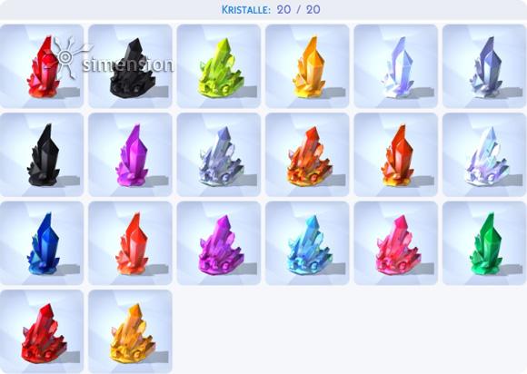 Die Sims 4 Sammlung Kristalle
