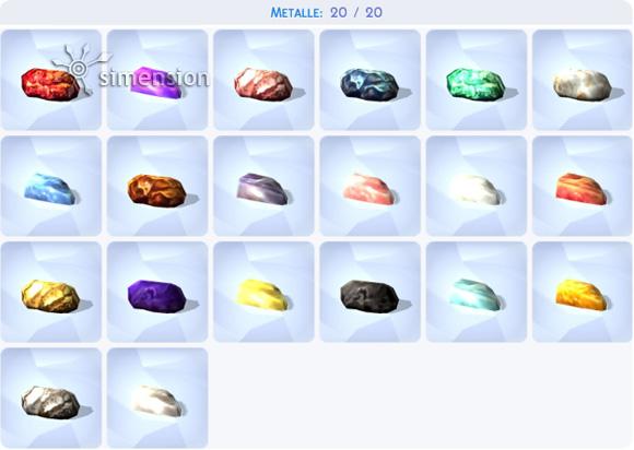 Die Sims 4 Sammlung Metalle