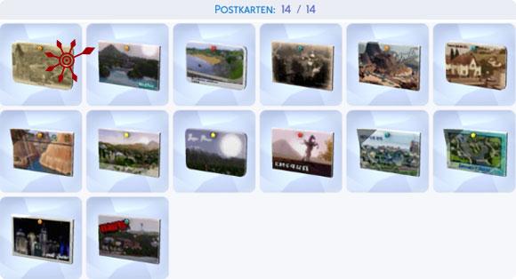 Die Sims 4 Sammlung Postkarten