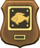 Abzeichen für die Komplettierung der Sammlung Fische: Der echte Angler