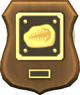 Abzeichen für die Komplettierung der  Sammlung Fossilien: Der Goldene Tribolit
