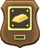 Abzeichen für die Komplettierung der  Sammlung Metalle: Der Magnumbarren