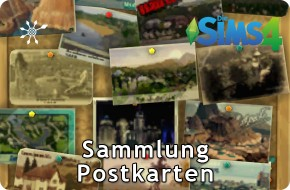 Sims 4 Sammlung Postkarten