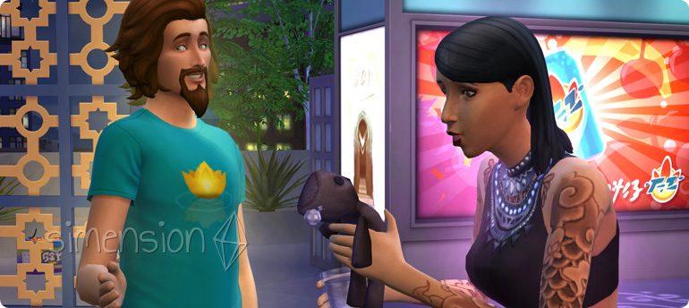 Die Sims 4 Festival Schräger Humor und Krasse Späße für alle Sims mit der Fähigkeit Schelm