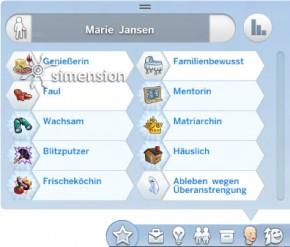 Geister-Simologie in Die Sims 4 mit Merkmal zur Todesart