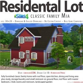 Die Sims 4 Download: Wohngrundstück Klassisches Famlienhaus Mia