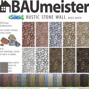 Sims 4 Download – BAUmeister Rustikale Steinwand Maxismatch