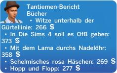 Sims 4 Fähigkeit Comedy mit Tantiemenberichten für Comedy-Bücher