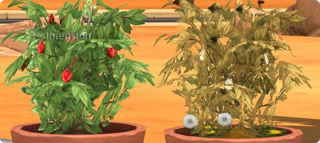 Pflanzenpflege in der Die Sims 4 Fähigkeit Gartenarbeit