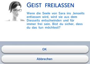 Geist ins Jenseits entlassen in Die Sims 4
