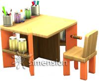 Die Sims 4 Kreativitätfähigkeit (Kinder) am Kreativkunst-Tisch aufbauen