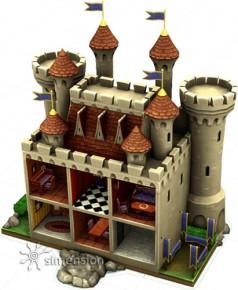 Die Sims 4 Kinderfähigkeit Kreativität am Puppenhaus aufbauen