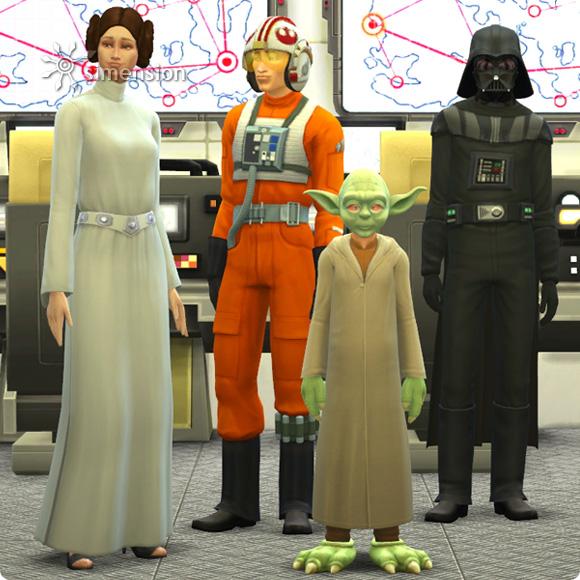 Starwars inspirierte Kostüme und Hüte