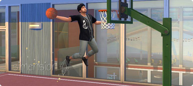 Basketball spielen in Die Sims 4 Großstadtleben