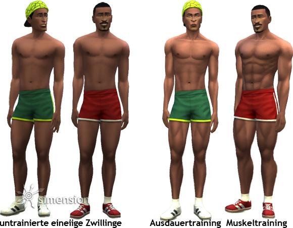 Sims 4 Fähigkeit Fitness: Ausdauertraining und Muskeltraining mit unterschiedlichen Ergebnissen