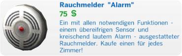 Sims 4 Rauchmelder Alarm
