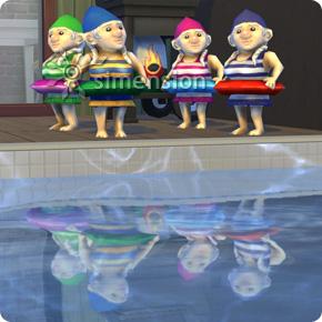 Sims 4 Patch mit neuem Gartenzwerg: Pool-Zwergin in 4 Farbvarianten