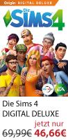 Die Sims 4 Standard und Deluxe 33% günstiger auf Origin