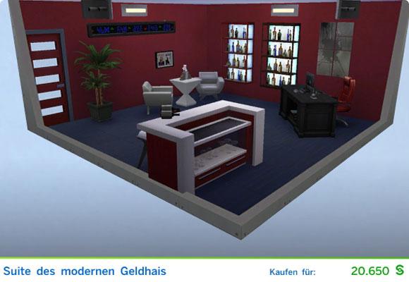 Sims 4 Karriere Sportler / Sportlerin: Gestaltetes Zimmer für Investoren