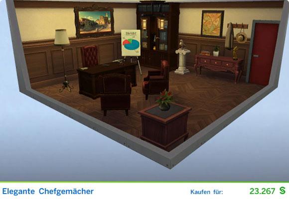 Sims 4 Karriere Sportler / Sportlerin: Gestaltetes Zimmer für Manager