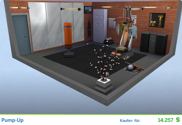 Sims 4 Karriere Sportler / Sportlerin: Gestaltetes Zimmer für Bodybuilder