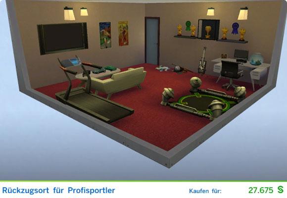 Sims 4 Karriere Sportler / Sportlerin: Gestaltetes Zimmer für Profisportler